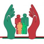 safeguarding - hands around a family